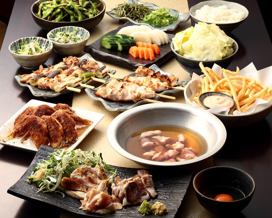 とりいちず 町田中央通りの鶏料理を満喫できる〈食べ放題×飲み放題コース〉